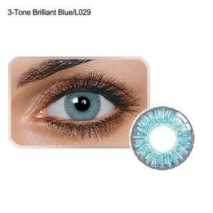 LENTILLES DE CONTACT BLUELANS 1pair 14,5 mm dia mode unisexe bleu vert