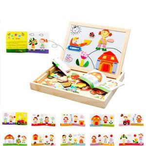 PUZZLE Puzzles Enfant en Bois Magnétique,Jigsaw avec Tabl