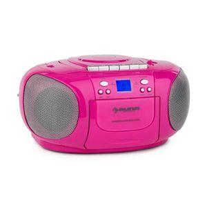 RADIO CD CASSETTE auna BoomGirl Boom Box Ghettoblaster - Radio porta