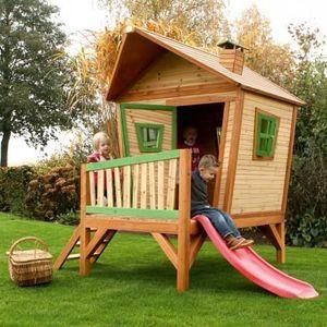 MAISONNETTE EXTÉRIEURE Axi Maison Iris bois de cèdre cabane pour enfants