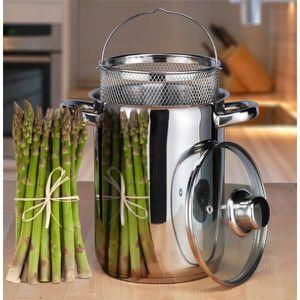CASSEROLE casserole à asperges en acier inoxydable casserole
