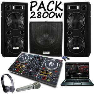 PACK SONO PACK SONO AMPLIFIÉ 2800W + CONTROLEUR PARTY MIX NU