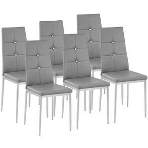CHAISE TECTAKE 6 Chaises de Salle à Manger Design Cadre e