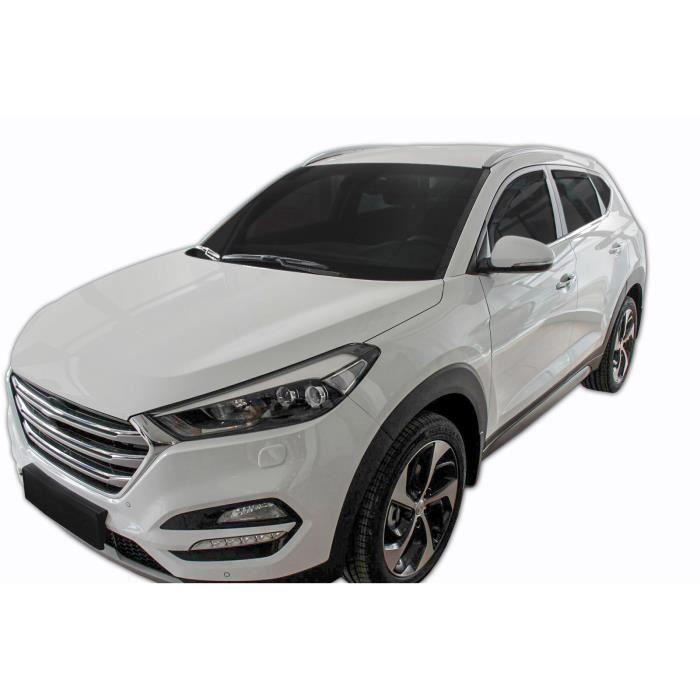 - Deflecteurs d'air Déflecteurs de fenêtre latérale Compatible avec Hyundai Tucson 2015-9/2020 4pcs