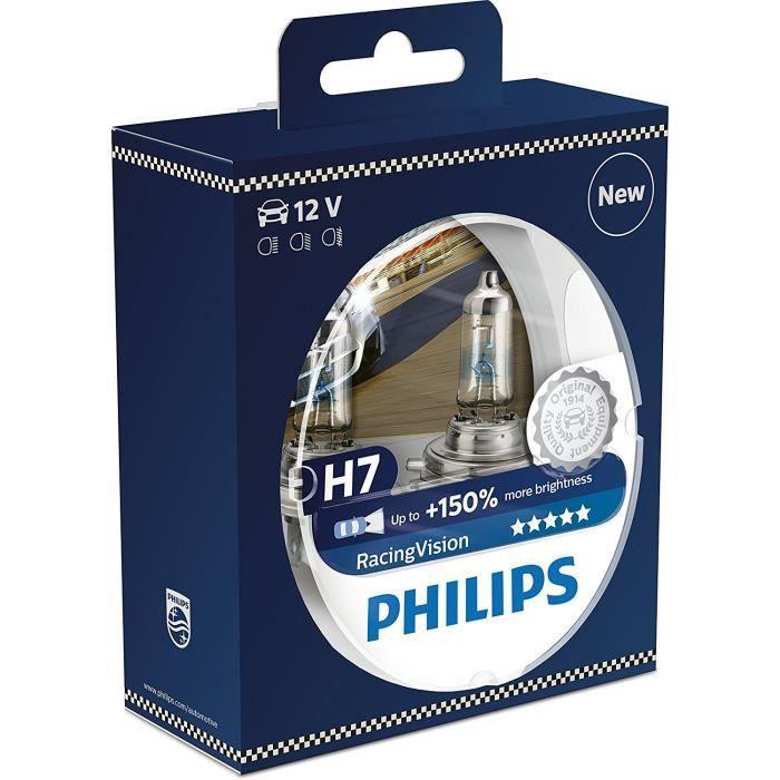 Philips 12972WVUSM WhiteVision Ultra Effet xénon H7 pour éclairage Avant, 4.200K, Blister de 2, Set de 2
