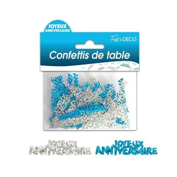 CONFETTIS DE TABLE ANNIVERSAIRE BLEUE AR