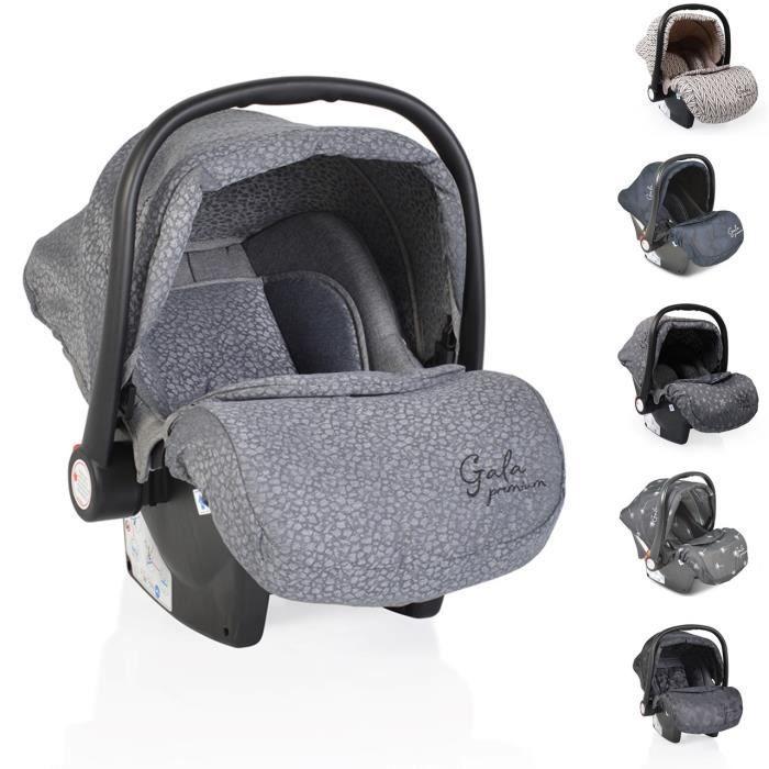 Moni siège auto bébé Gala Premium groupe 0+ (0-13kg) couvre-pieds coussin siège [gris clair]