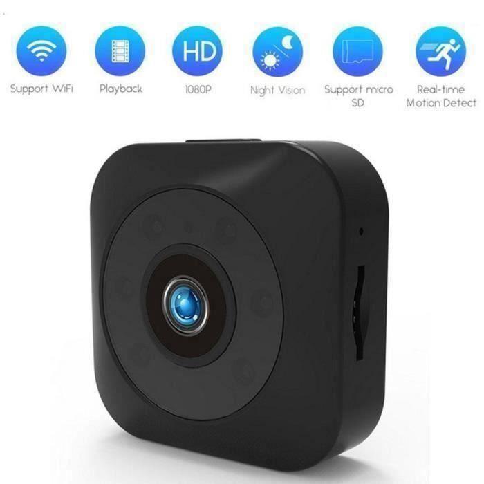 Mini Caméra Espion Wifi Longue Autonomie Detecteur de mouvements Caméscope de Surveillance Digital DV Full HD Caméra Espion N J0C4