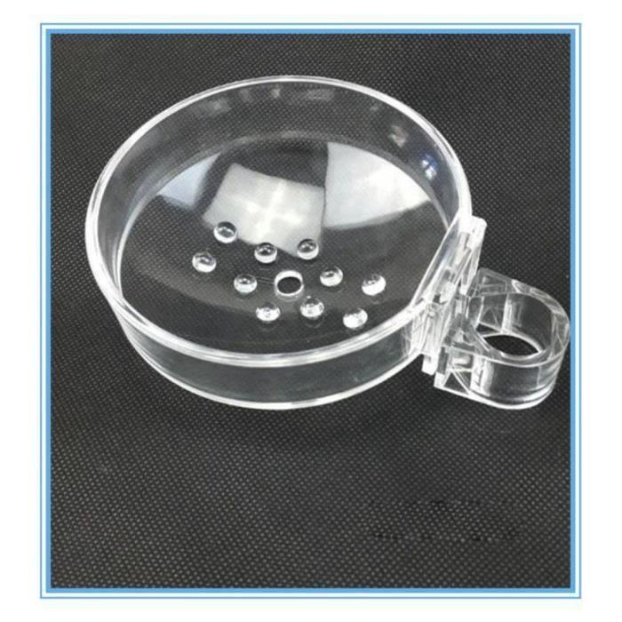 Porte-savon de douche de rail de douche d'ABS et boîte de savon unique Porte-savon de salle de bains de clip-on s'adapte pour le