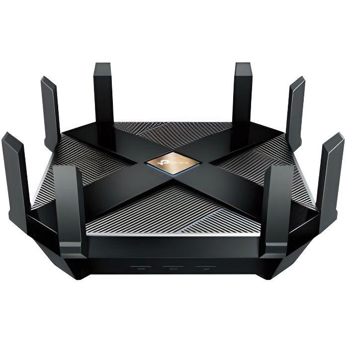 TPLINK Router AX6000 Wi-Fi 6 Broadcom 1.8GHz - Quad-Core CPU - 2.5Gbps - WAN Port - 8 Gigabit LAN Ports