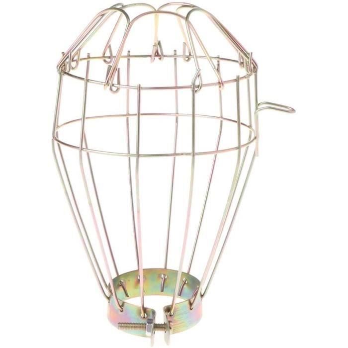 planuuik Lampe de Rechange Industrielle en Fil de Fer à Repasser avec Pince de sécurité en métal Doré 736508