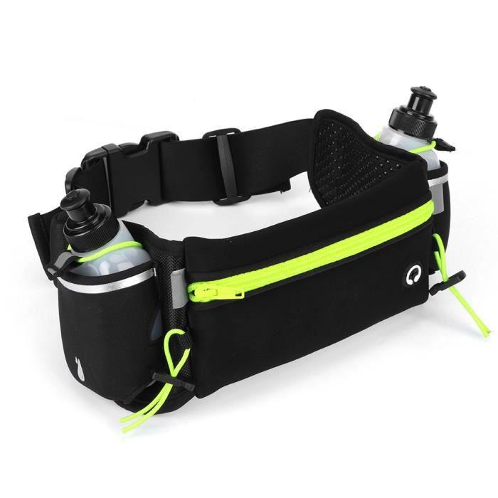 Garosa Sac de taille sport Kit de Bouteille de Sac de Taille Étanche de Sport Extérieur Ceinture de Course avec Bouteille