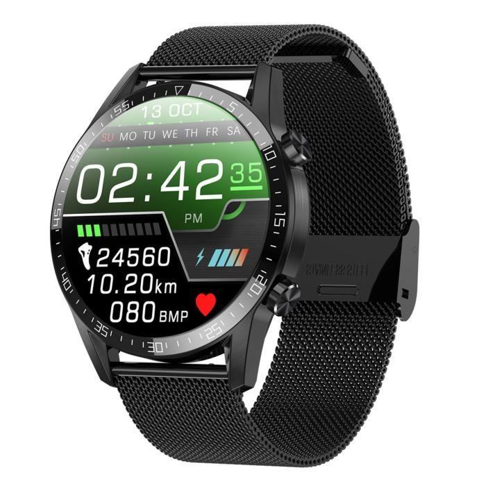 Sports Hommes Montre Intelligente Température Fitness Fréquence Cardiaque 1,28 Pouces Ip68 Imperméable H949