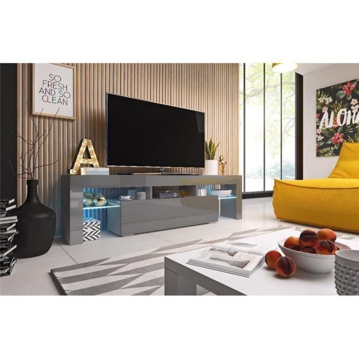 Meuble TV design ROTOM - Gris