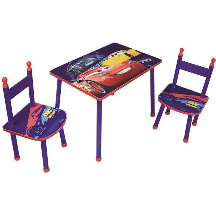 Fun House Disney Cars table+2 chaises pour enfant