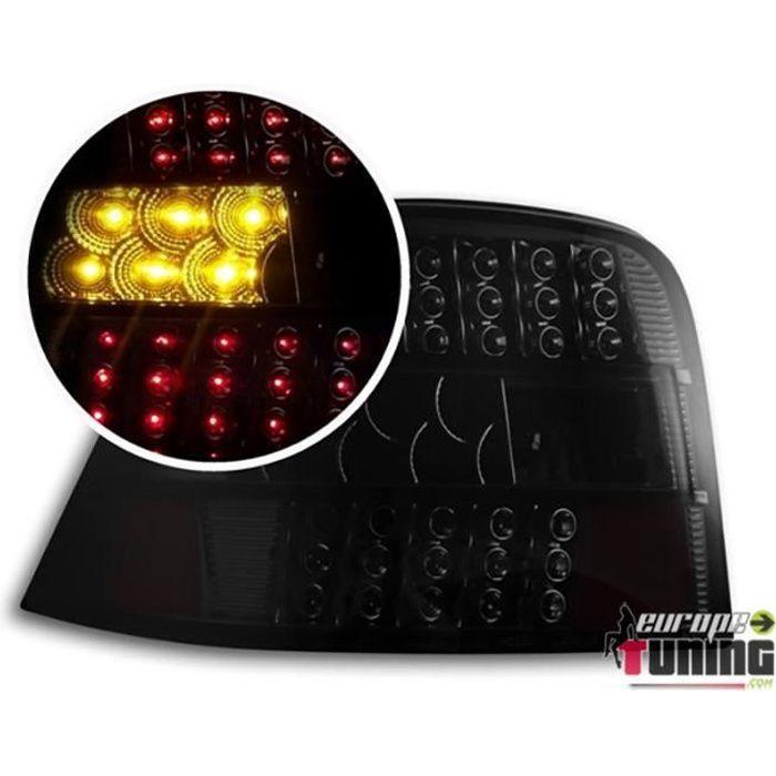 FEUX ARRIERES NOIRS AVEC CLIGNOTANT LED POUR VOLKSWAGEN VW GOLF 4 BERLINE (00554)