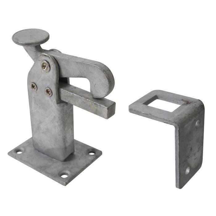 longueur 60/cm Surface galvanis/ée /à chaud Plaque Pied filetage /Ø 38/mm