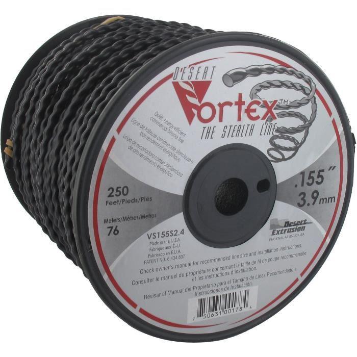 JARDIN PRATIQUE Bobine fil nylon copolymère VORTEX pour débroussailleuse - Ø 3,9 mm - L 76 m