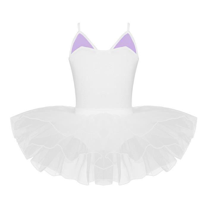 Enfant Fille Justaucorps de Ballet Robe de Danse Gym Tutu Robe Body Combinaison Carnaval Déguisement Chat Soirée Yoga 2-10 Ans