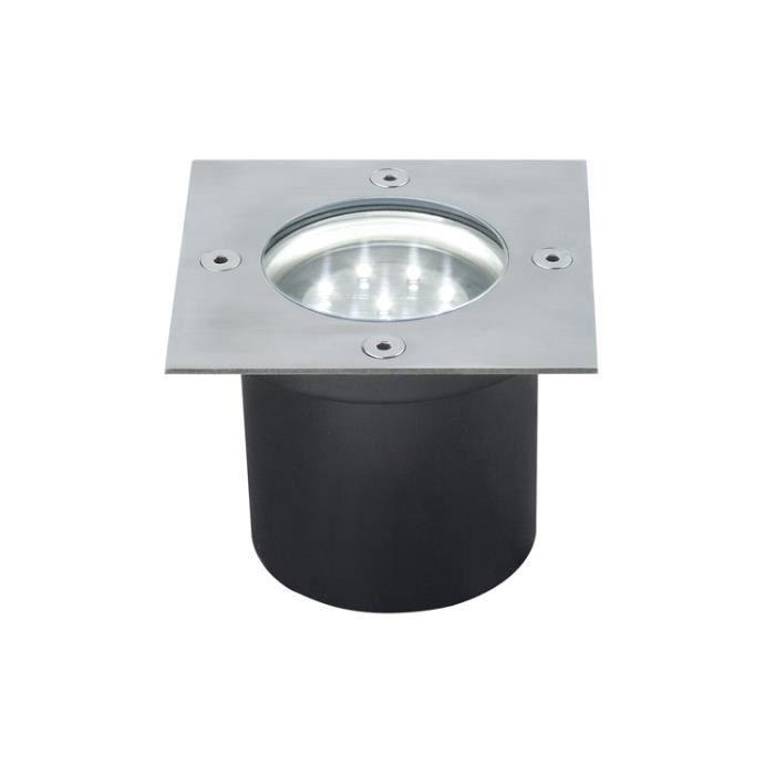 Paulmann 98876 kit d'encastrés sol Special Line LED acier inox, carré, kit de 3
