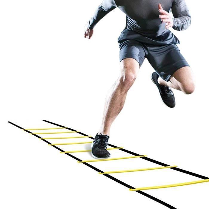 Échelle de saut de forme physique d'entraînement de vitesse de flexibilité de football de ballon de football de 4m jaune