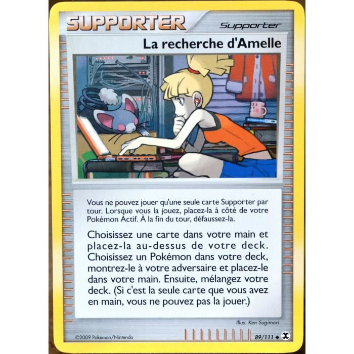Pokemon Platine Rivaux Emergeants La Recherche D/'Amelle 89//111 Supporter