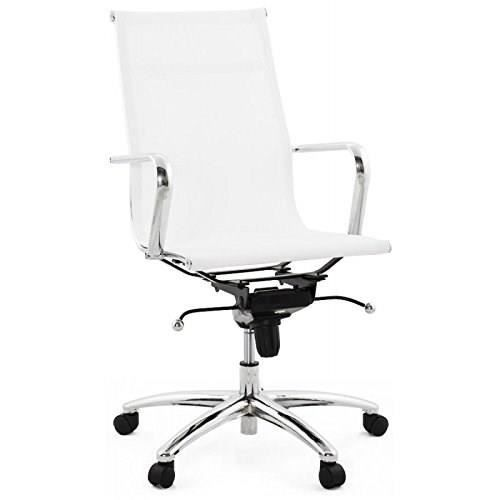fauteuil de bureau crave en textile blanc achat. Black Bedroom Furniture Sets. Home Design Ideas