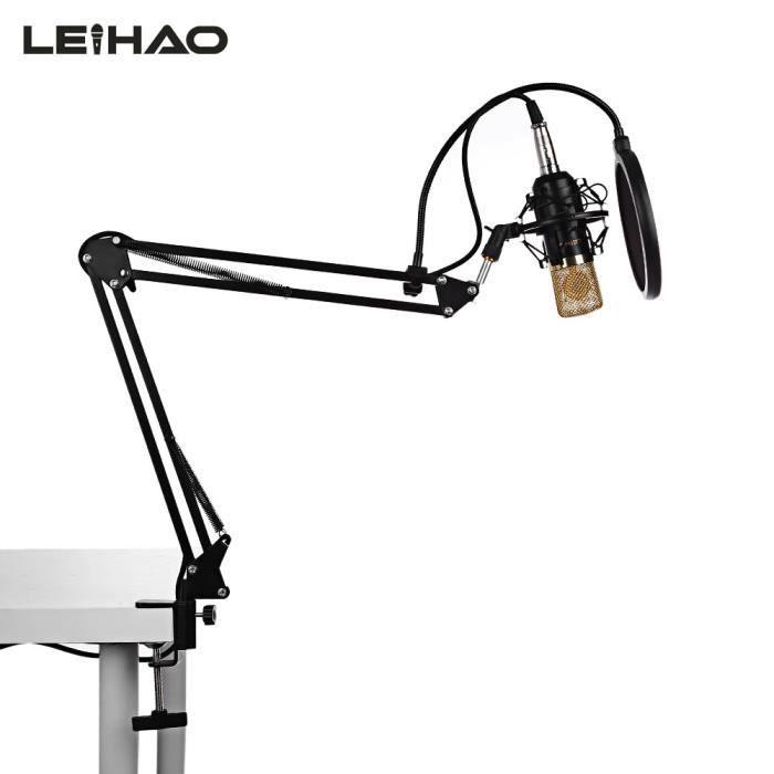 MICROPHONE NOIR LEIHAO BM - 700 Enregistreur de radiodiffusio