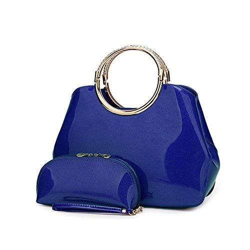 Womens Pu Leather Casual Mini Satchel Shell Bag - Designer Hand Bags For - Girls - Set Of 2 (handb CIWRY