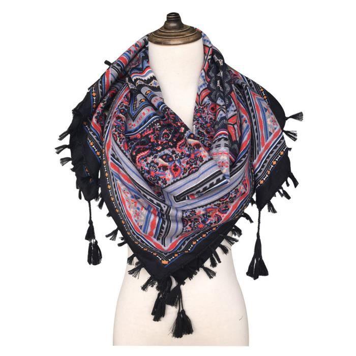Luxe Summer femmes écharpe doux soie foulards Femme Châles couvrir Bandana