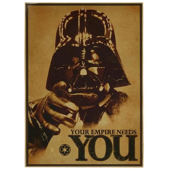 star wars affiche empire poster dark vador 30x42cm achat vente affiche cdiscount. Black Bedroom Furniture Sets. Home Design Ideas