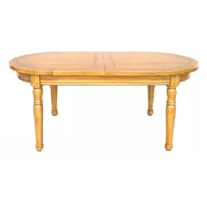 Table ovale 180cm ch ne massif 39 antique 39 achat vente for Table a repasser largeur 52