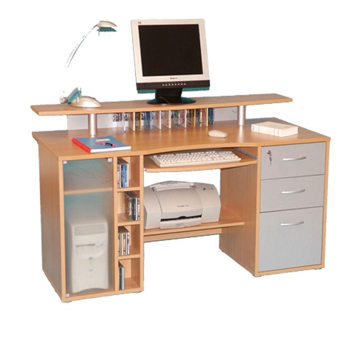 Bureau multimedia bureau multim dia seatle h tre achat for Bureau multimedia blanc