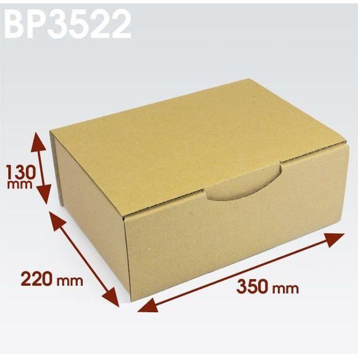 Lot de 10 Boîtes postales brunes 200x140x75 mm
