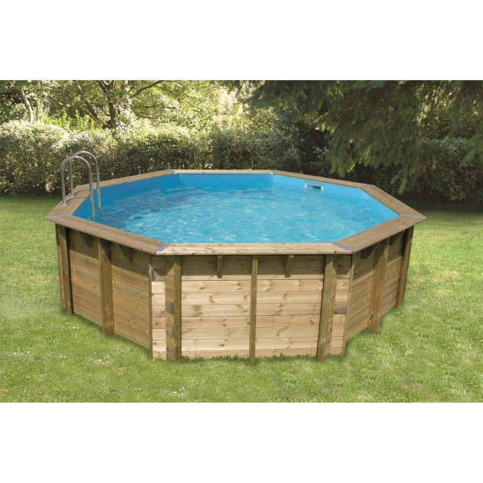 Piscine bois nortland ubbink ocea ronde en kit achat for Piscine nortland
