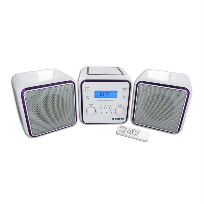 CHAINE HI-FI MICRO CHAINE RADIO CD MP3 USB BLANCHE + 3 SETS