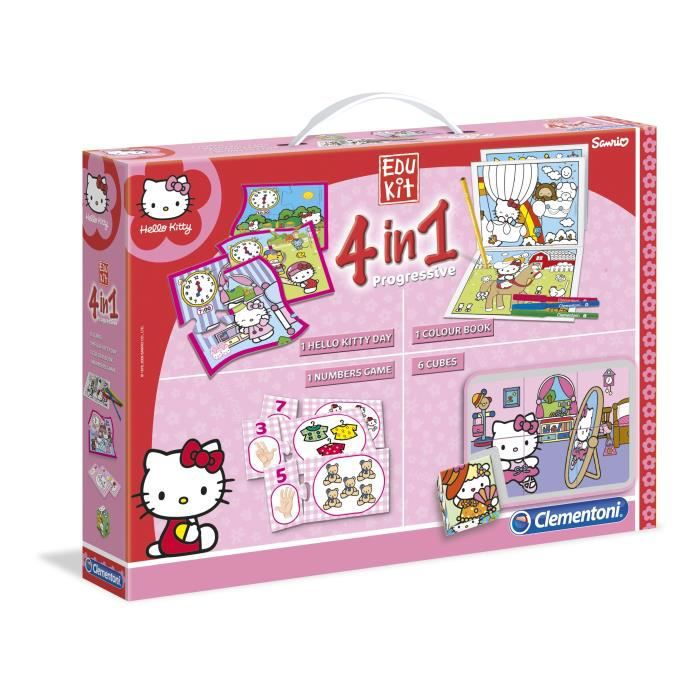 hello kitty edukit 4 en1 clementoni achat vente mallette multi jeux cdiscount. Black Bedroom Furniture Sets. Home Design Ideas