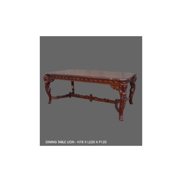 Table baroque de salle manger en bois mod le lion - Model de table a manger en bois ...