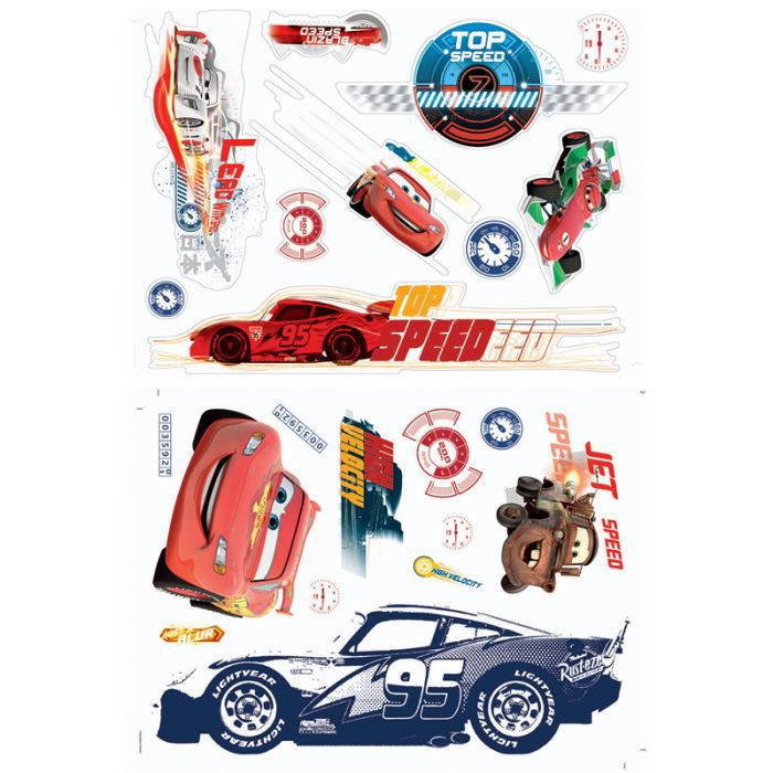 22 stickers muraux cars 2 disney achat vente stickers. Black Bedroom Furniture Sets. Home Design Ideas
