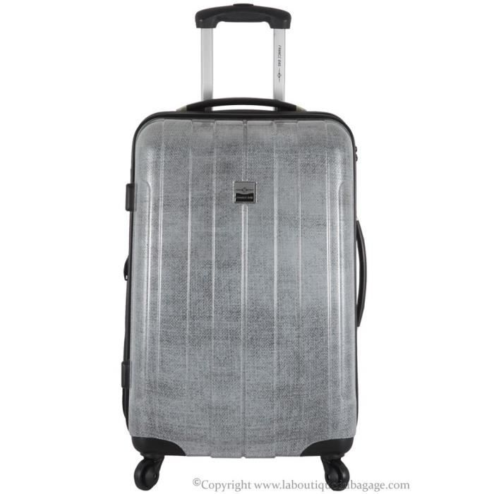 france bag valise rigide moyen s jour cancun argent jeans gris achat vente valise bagage. Black Bedroom Furniture Sets. Home Design Ideas