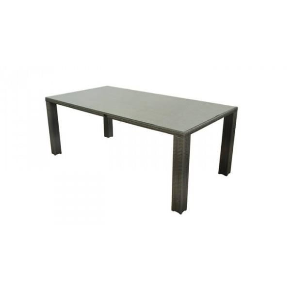 Table faro couleur m tis achat vente table de for Vente table jardin