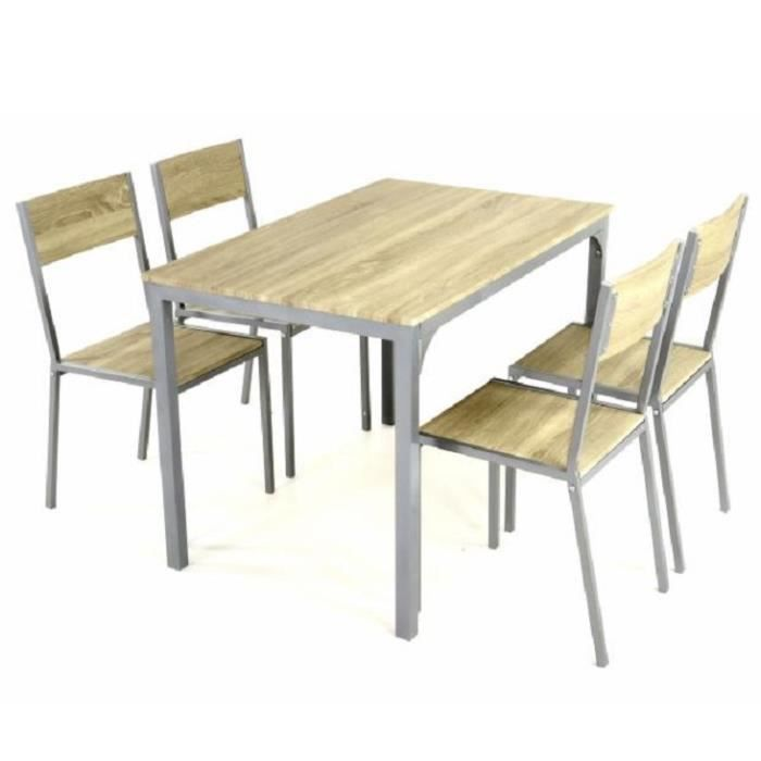 4 chaises bistro bois table manger 110 cm achat vente table de cuisine 4 chaises bistro. Black Bedroom Furniture Sets. Home Design Ideas