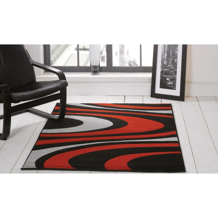 tapis pas cher honesty red cm 160x220 achat vente. Black Bedroom Furniture Sets. Home Design Ideas
