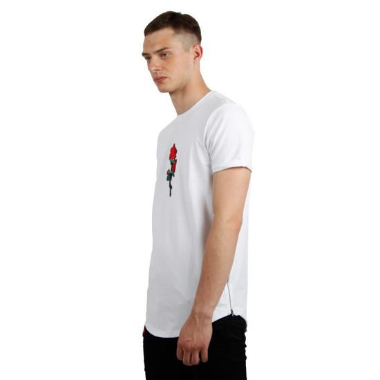 aceb9cca7 Tee Shirt Brodé Rose homme Project X Paris (XL - Blanc)