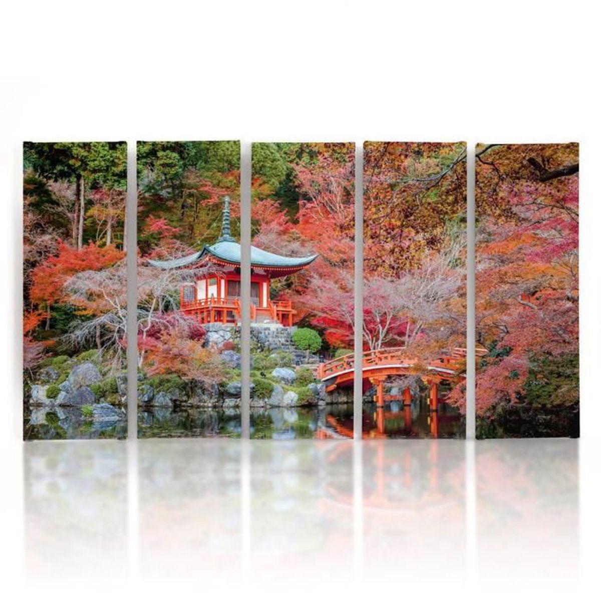150 x 100 Tableau déco jardin japonais décoration murale ...