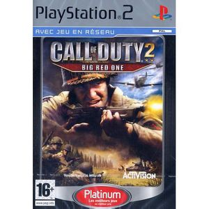 JEU PS2 CALL OF DUTY 2 BIG RED ONE / JEU CONSOLE SONY PS2