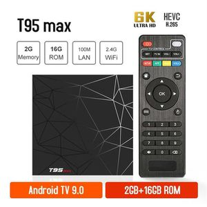BOX MULTIMEDIA T95MAX Smart tv box 2GB 16GB Android 9.0 2.4G Wifi