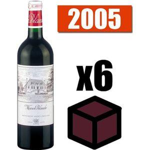 VIN ROUGE X6 Maison Blanche 2005 Rouge 75 cl AOC Montagne Sa