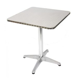 TABLE DE JARDIN  Table de bistrot terrasse bar hauteur 70 cm alumin