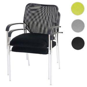 CHAISE Lot de 2 chaises de conférence / visiteur Tulsa, e